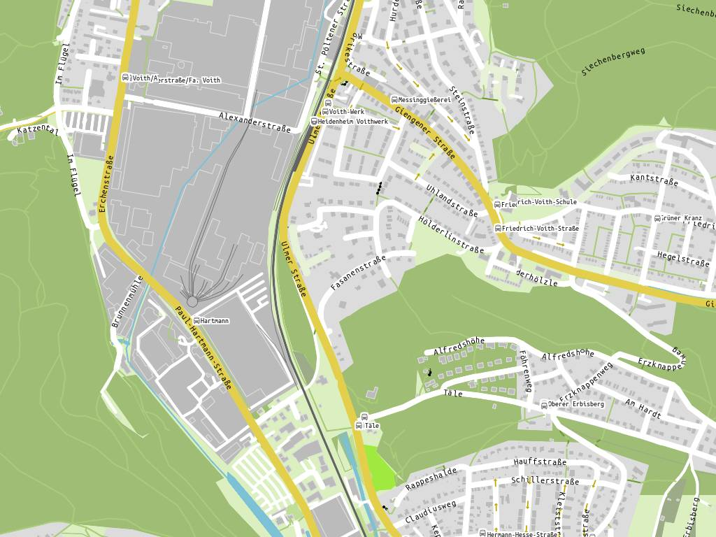 Küchen Fabrikverkauf Baden Württemberg ~ Stadtplan Fabrikverkauf Hartmann, Heidenheim an der Brenz