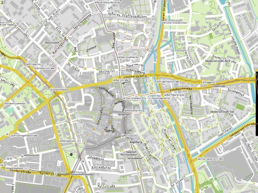 Stadtplan Lauterlech, Augsburg